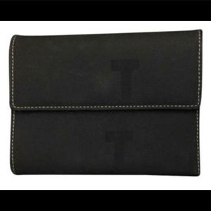 Tod's Black Canvas With Leather Interior Wallet
